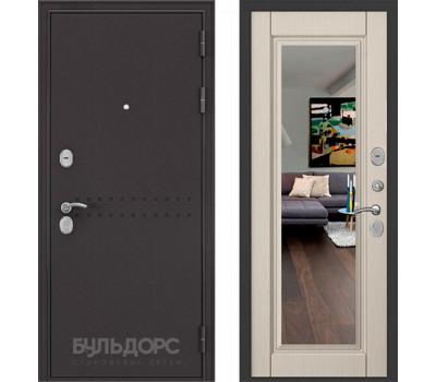 Стальная дверь Бульдорс MASS 90 ларче бьянко зеркало