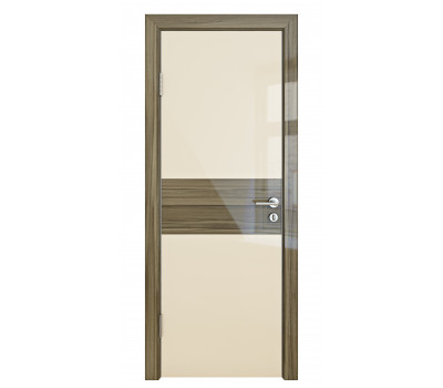Дверная Линия ДО 501 Ваниль глянец стекло сосна