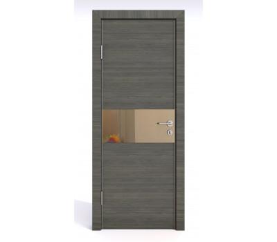 Дверная Линия ДО 501 Ольха темная, зеркало бронза