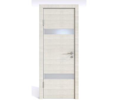 Дверная Линия ДО-502 Ива светлая стекло белое матовое (снег)