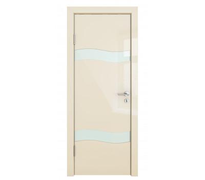 Дверная Линия ДО 503 Ваниль глянец стекло белый лак