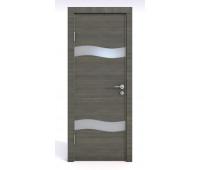 Дверная Линия ДО-503 Ольха темная стекло белое матовое (снег)