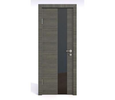 Дверная Линия ДО-504 Ольха темная стекло черное