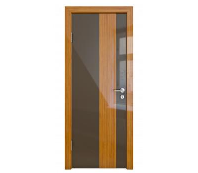 Дверная Линия ДО 504 Шоколад глянец стекло бамбук