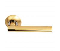 Ручка дверная на круглой накладке S010 119II матовое золото