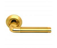 Ручка дверная на круглой накладке S010 47II матовое золото