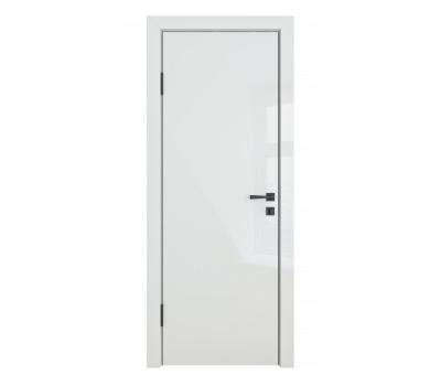 Дверная Линия ДГ-500 Белый Глянец кромка черная матовая