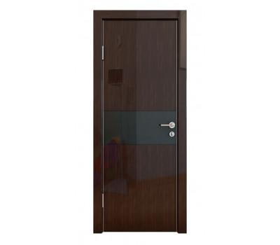 Дверная Линия ДО-501 Венге глянец стекло чёрное