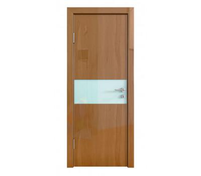 Дверная Линия ДО-501 Анегри тёмный стекло белое матовое