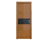 Дверная Линия ДО-501 Анегри тёмный стекло черное