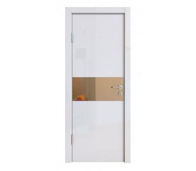 Дверная Линия ДО-501 Белый глянец зеркало бронза