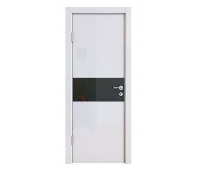 Дверная Линия ДО-501 Белый глянец стекло чёрное