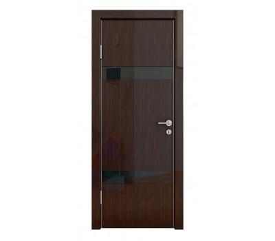 Дверная Линия ДО-502 Венге глянец стекло чёрное