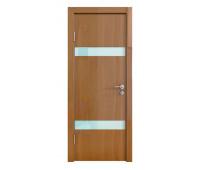 Дверная Линия ДО-502 Анегри тёмный стекло белое матовое