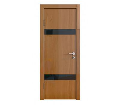 Дверная Линия ДО-502 Анегри тёмный стекло чёрное