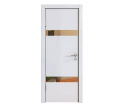 Дверная Линия ДО-502 Белый глянец зеркало бронза
