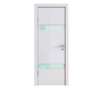 Дверная Линия ДО-502 Белый глянец стекло белое матовое