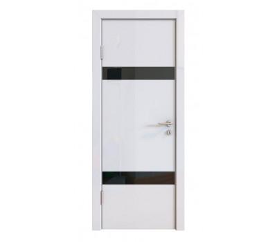 Дверная Линия ДО-502 Белый глянец стекло чёрное