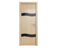 Дверная Линия ДО-503 Анегри светлый стекло чёрное