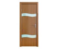 Дверная Линия ДО-503 Анегри темный стекло белое матовое