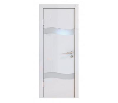 Дверная Линия ДО-503 Белый глянец стекло белое матовое (снег)