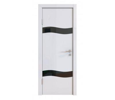 Дверная Линия ДО-503 Белый глянец стекло черное