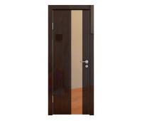 Дверная Линия ДО-504 Венге глянец зеркало бронза