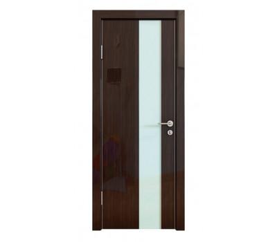 Дверная Линия ДО-504 Венге глянец стекло белое матовое