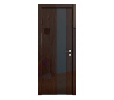 Дверная Линия ДО-504 Венге глянец стекло чёрное