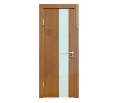 Дверная Линия ДО-504 Анегри тёмный стекло белое матовое