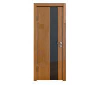 Дверная Линия ДО-504 Анегри тёмный стекло чёрное