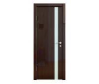 Дверная Линия ДО-507 Венге глянец стекло белое