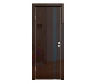 Дверная Линия ДО-507 Венге глянец, стекло чёрное