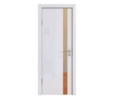 Дверная Линия ДО-507 Белый глянец зеркало бронза