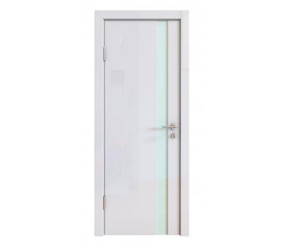Дверная Линия ДО-507 Белый глянец стекло белое