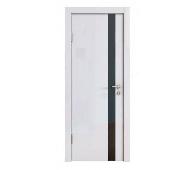 Дверная Линия ДО-507 Белый глянец стекло чёрное