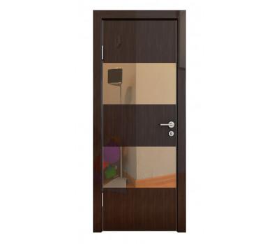 Дверная Линия ДО-508 Венге глянец зеркало бронза
