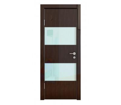 Дверная Линия ДО-508 Венге глянец стекло белое
