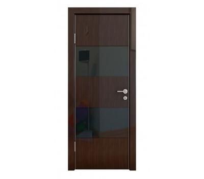Дверная Линия ДО-508 Венге глянец стекло черное