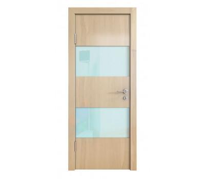 Дверная Линия ДО-508 Ангери светлый стекло белое