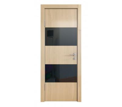 Дверная Линия ДО-508 Ангери светлый стекло черное