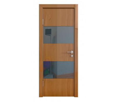 Дверная Линия ДО-508 Ангери темный стекло черное