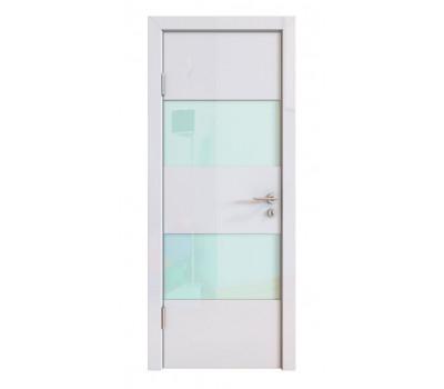 Дверная Линия ДО-508 Белый глянец стекло белое