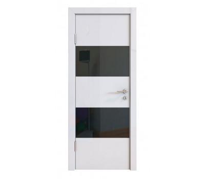 Дверная Линия ДО-508 Белый глянец стекло черное