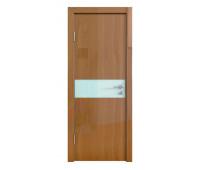 Дверная Линия ДО-509 Анегри тёмный стекло белое матовое