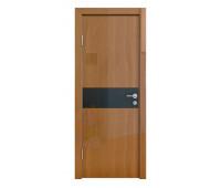 Дверная Линия ДО-509 Анегри тёмный стекло чёрное