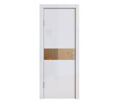 Дверная Линия ДО-509 Белый глянец зеркало бронза