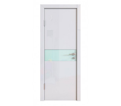 Дверная Линия ДО-509 Белый глянец стекло белое матовое