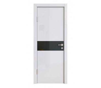 Дверная Линия ДО-509 Белый глянец стекло черное