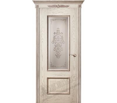 остекленная Марсель С декором Патина серебро